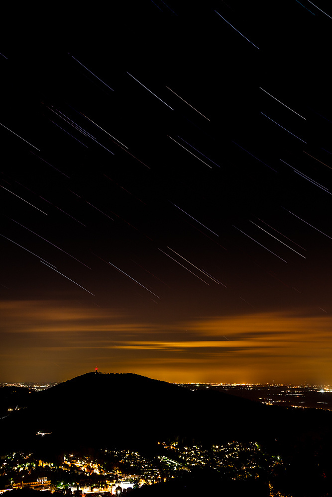 Star Trails above the Upper Rhine Valley