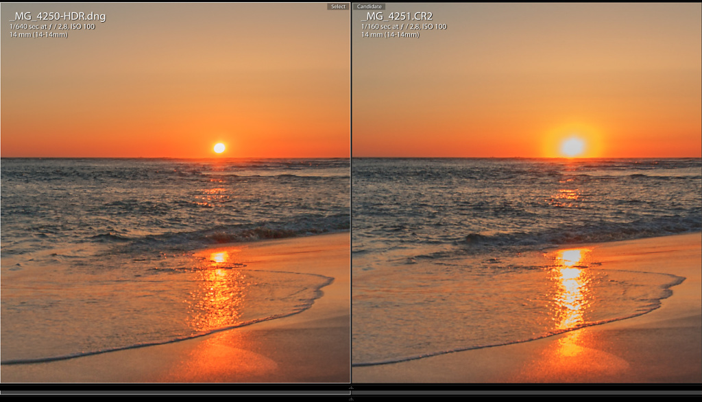 Sunset Comparision